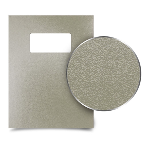 "Tan 9"" x 11"" Regency Leatherette Vinyl Covers with Windows - 100 Sets (MYRC9X11TNW), MyBinding brand Image 1"