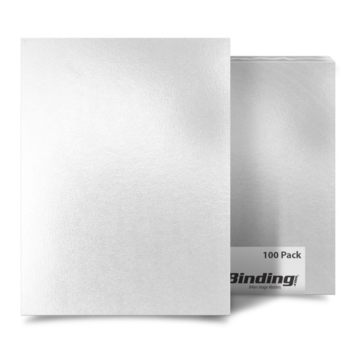 "White 8.5"" x 11"" Regency Leatherette Covers - 100pk (FM8010A) Image 1"