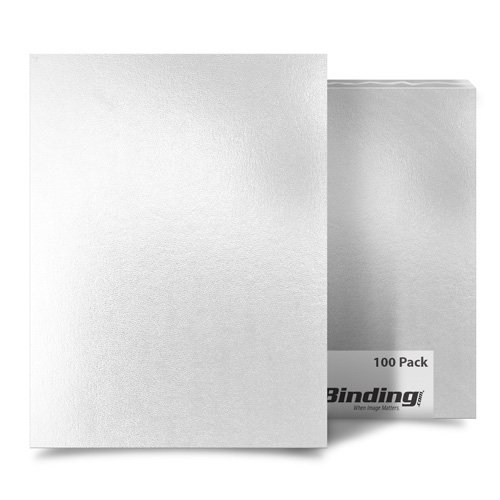 "White 8"" x 10"" Regency Leatherette Covers - 100pk (MYRC8X10WH) - $57.15 Image 1"