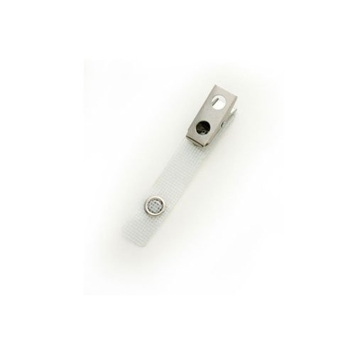 Reinforced Vinyl Straps with 2-Hole Smooth Face Clips - 100pk (MYIDS26WHT) - $44.09 Image 1
