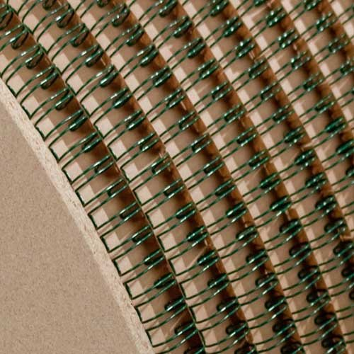 "Wire-O 1 1/4"" Green 2:1 Pitch Double Loop Ring Wire Spool (2100 Loops) (RZ114GNSP), MyBinding brand Image 1"