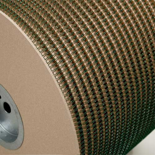 "Wire-O 1"" Green 2:1 Pitch Double Loop Ring Wire Spool (4500 Loops) (RZ100GNSP) Image 1"