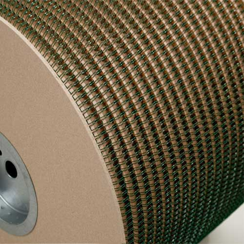 "Wire-O 1"" Green 2:1 Pitch Double Loop Ring Wire Spool (4500 Loops) (RZ100GNSP), MyBinding brand Image 1"