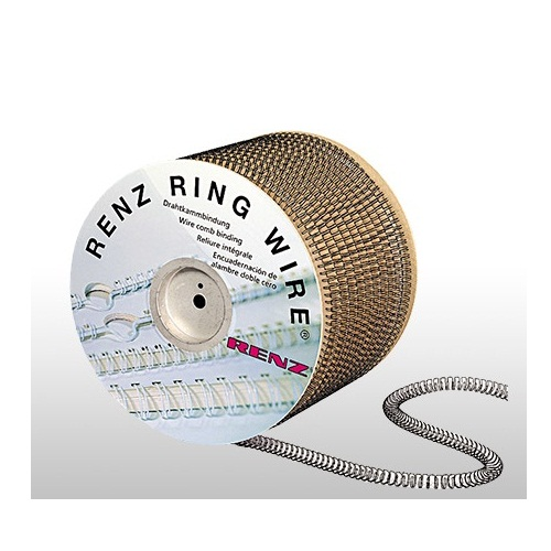 "Renz 1"" 2:1 Pitch Double Loop Ring Wire Spool (RZW21SP-100) Image 1"