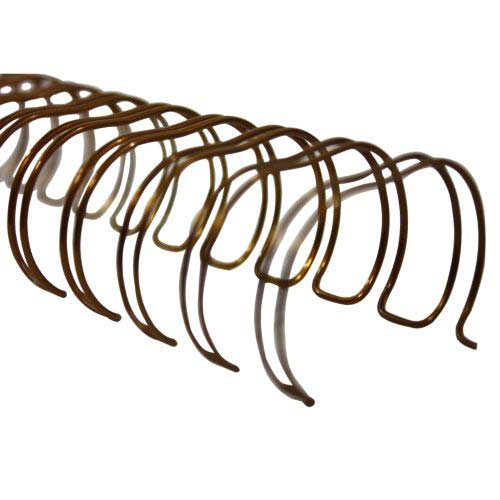 "Renz Premium 1"" Bronze 2:1 Twin Loop Ring Wire - 100pk (RZ100BZ), Binding Supplies Image 1"