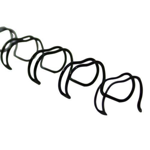 "Renz Premium 5/16"" Black 2:1 Twin Loop Ring Wire - 100pk (RZ516BK21) Image 1"