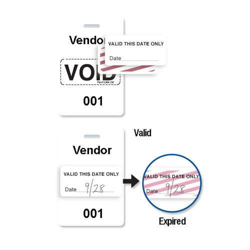 Reusable White Plastic VOIDbadge - Vendor 301-400 - 100pk (T3007-06559) Image 1