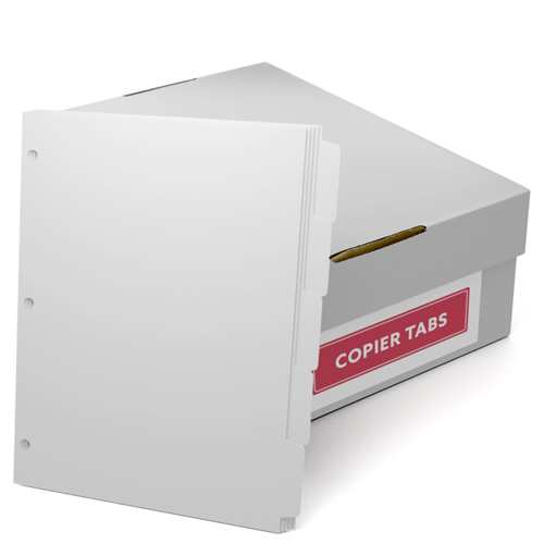 Reverse Collated 90lb Plain Paper Copier Tabs 3 Hole Punched (SRC903H)