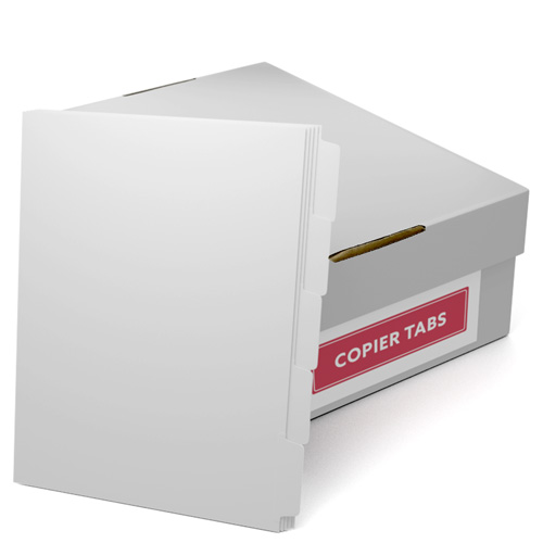 Reverse Collated 1/5th Cut 90lb Plain Paper Copier Tabs (B905SR) - $85.09 Image 1