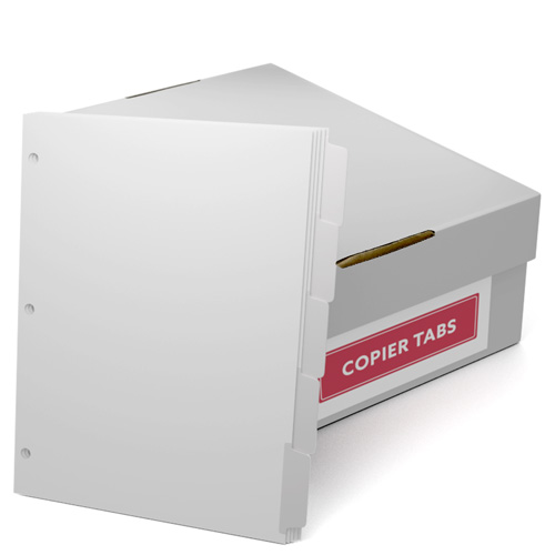 Reverse Collated 90lb Mylar Coated Copier Tabs 3 Hole Punched (SRC90T3H)
