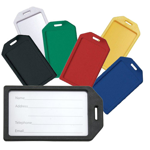 Rigid Plastic Heavy Duty Luggage Tag Holders - 100pk (MYRPHDLTH) Image 1