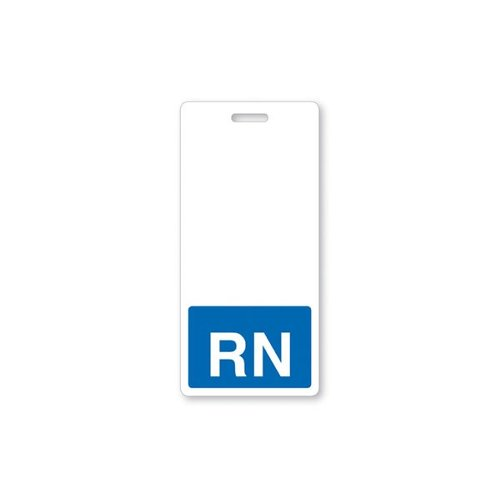 RN Vertical Badge Buddies (Blue Bar/White Text) - 25pk (1350-2134) Image 1