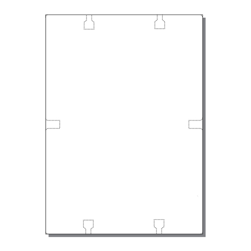 Zapco Rotary File Cards 2 Up Jumbo With Center Tabs - 250 Sheets (ZAPFC135) Image 1