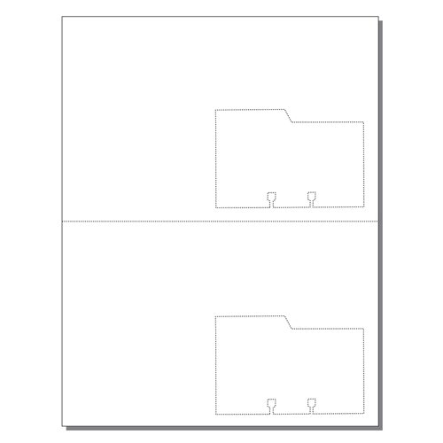 Zapco Rotary File Cards 2 Up Note Card With Left Tabs - 250 Sheets (ZAPFC132), Zapco brand Image 1