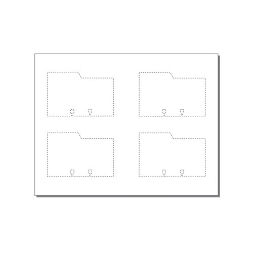 Zapco Rotary File Cards 4 Up With Left Tabs - 250 Sheets (ZAPFC122)