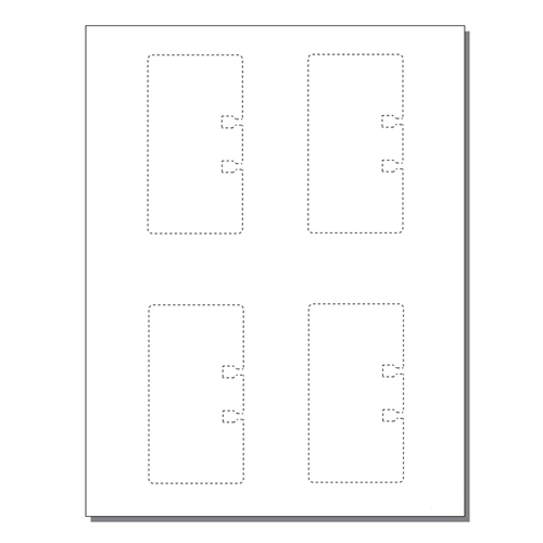 Zapco Rotary File Cards 4 Up Without Tabs - 250 Sheets (ZAPFC125)
