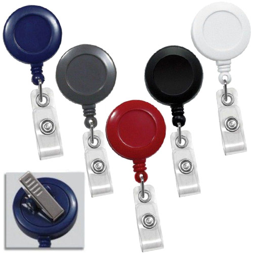Round Badge Reel with Swivel Spring Clip - 25pk (MYRBRSWVC) Image 1