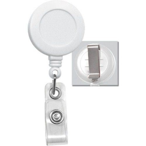 Round Badge Reel with Belt Clip White 25pk (2120-3038) - $23.59 Image 1