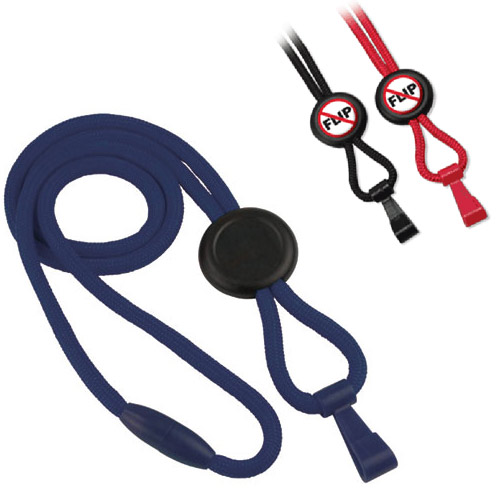 Lanyard with Slider and Plastic Hook Image 1