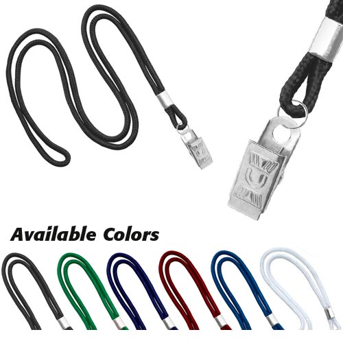 Round Cord Lanyard with Clip - 1/8