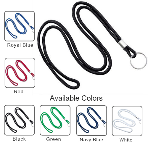 Round Cord Lanyard with Ring - 1/8