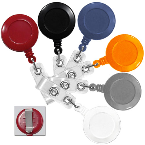 Round Retractable Badge Reel with Slide Clip - 25pk (MYRRBRSLC) - $23.59 Image 1
