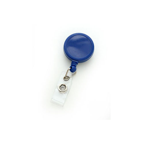 Royal Blue Max Label Round Badge Reel with Slide Clip - 25pk (MYID905IRBLU) Image 1