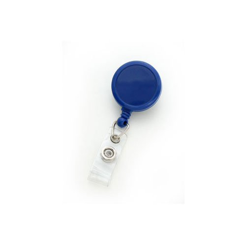 Royal Blue Max Label Round Badge Reel with Swivel Clip - 25pk (MYID909IRBLU), MyBinding brand Image 1