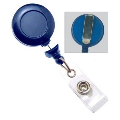 Royal Blue No-Twist Badge Reel with Belt Clip - 25pk (2120-3052)
