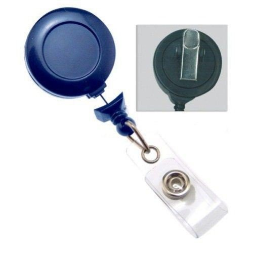 Royal Blue No-Twist Badge Reel with Swivel Clip - 25pk (2120-7642) Image 1