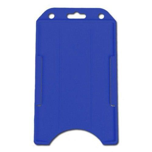 Royal Blue Open Face Vertical Rigid Badge Holders - 50pk (1840-8162) Image 1