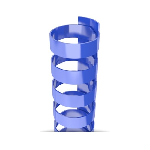 "1/4"" Royal Blue Plastic 24 Ring Legal Binding Combs - 100pk (TC140LEGALRBLU) - $14.69 Image 1"