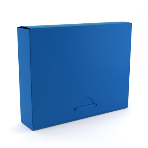 "1.5"" Letter Royal Blue Poly Document Boxes (MYPDB150RB), Binding Covers Image 1"