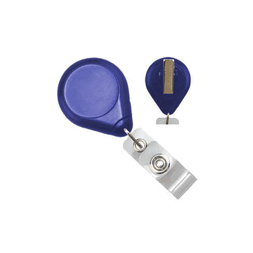 Royal Blue Premium Twist-Free Badge Reels With Swivel Clips - 25pk (609-I-RBLU) Image 1