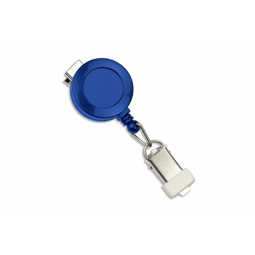 Royal Blue Round Badge Reel with Card Clamp and Swivel Clip - 25pk (MYID529IK6RBLU) Image 1