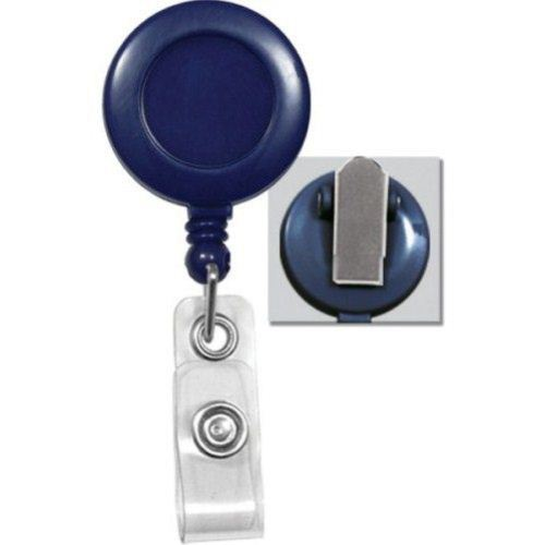 Royal Blue Round Badge Reel with Spring Clip - 25pk (2120-4702) Image 1