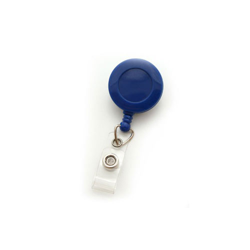 Royal Blue Round Badge Reel with Strap and Swivel Clip- 25pk (MYID529IRBLU) Image 1