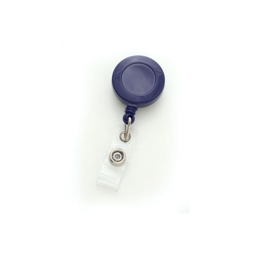 Royal Blue Round Retractable Badge Reel with Slide Clip - 25pk (MYID525IRBLU) Image 1