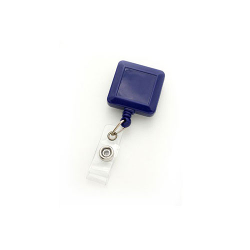Royal Blue Square Badge Reel with Slide Clip - 25pk (MYID530IRBLU) - $24.59 Image 1
