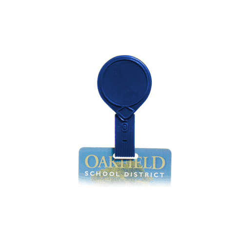 Royal Blue Twist-Free Mini-Bak Badge Reel with Belt Clip - 25pk (505-MF-RBLU) Image 1