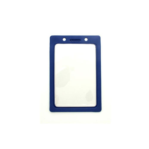 "Royal Blue Vertical Vinyl Color-Frame Badge Holder (3-7/16"" x 2-1/4"") - 100pk (MYBP407NRBLU) Image 1"