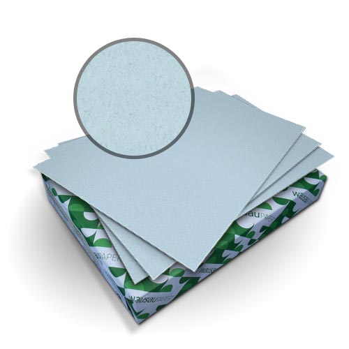 "Neenah Paper Royal Fiber Ice Blue 8.5"" x 11"" 80lb Covers With Windows - 50 Sets (MYRFC8.5X11IBW) Image 1"