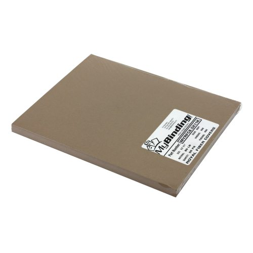 "Neenah Paper Royal Fiber Kraft 8.5"" x 11"" 80lb Smooth Cover - 50pk (MYRFC8.5X11K) Image 1"