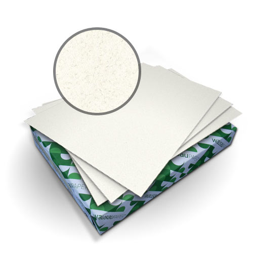 "Neenah Paper Royal Fiber White 8.75"" x 11.25"" 80lb Smooth Cover - 50pk (MYRFC8.75X11.25W) Image 1"
