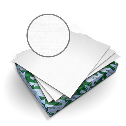 "Neenah Paper Royal Linen Bright White 9"" x 11"" 80lb Covers - 50pk (MYRLC9X11BW) Image 1"