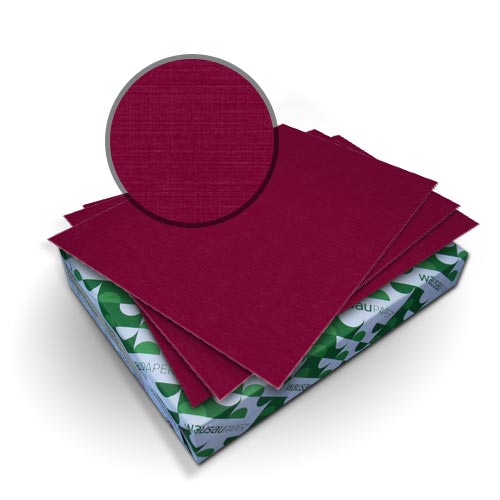 "Neenah Paper Royal Linen Burgundy 9"" x 11"" 80lb Covers With Windows - 50 Sets (MYRLC9X11BUW) Image 1"