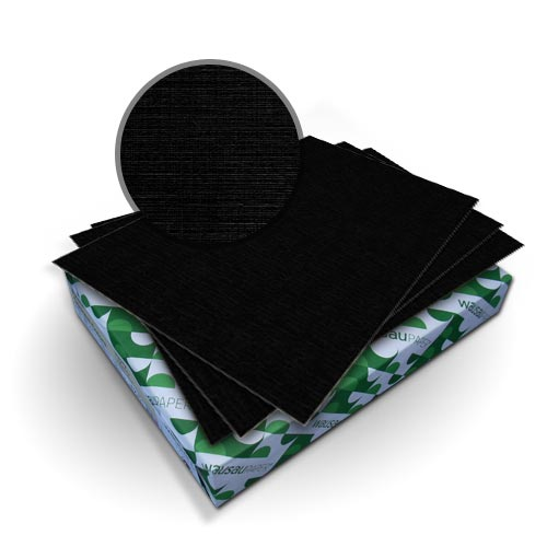 "Neenah Paper Royal Linen Eclipse Black 5.5"" x 8.5"" 80lb Covers - 50pk (MYRLC5.5X8.5BK) Image 1"