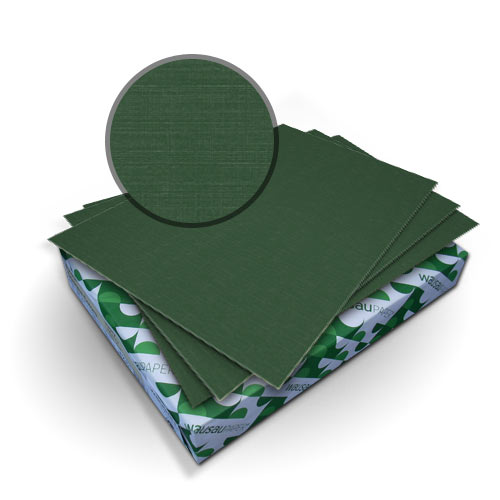 "Neenah Paper Royal Linen Emerald Green 9"" x 11"" 80lb Covers With Windows - 50 Sets (MYRLC9X11EGW) Image 1"