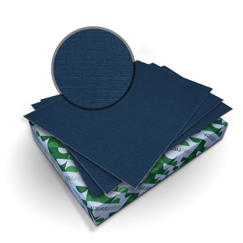 "Neenah Paper Royal Linen Midnight Blue 9"" x 11"" 80lb Covers With Windows - 50 Sets (MYRLC9X11MBW) Image 1"