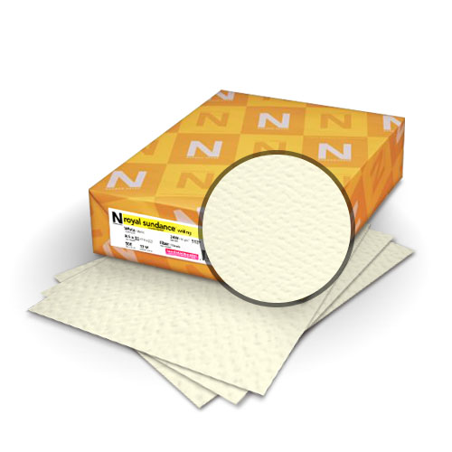 "Neenah Paper Royal Sundance Felt Natural White 9"" x 11"" 80lb Covers With Windows - 50 Sets (MYRFC9X11NW248W) Image 1"